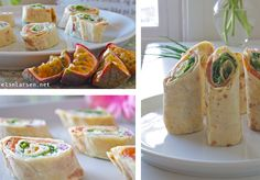 Lefse med laks og ruccola (Lefse with salmon and rocket) Tapas, Salmon, Buffet, Healthy Lifestyle, Brunch, Fish, Ethnic Recipes, Party, Pisces