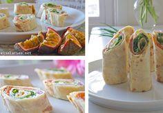 Lefse med laks og ruccola- genial matpakke eller som fingermat