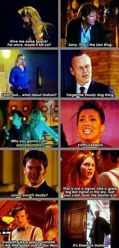 Fandom references in Doctor Who...  one of the many reasons I love this show.