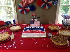 Project Nursery - Presidential Themed Dessert Table