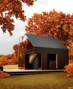 Confident architecture in such a beautiful setting. Sol and Yukon house by Alexa. A Frame House, Mirror House, Forest House, Forest Cabin, Tiny House Plans, Cabin Plans, Cabin Homes, House Goals, Exterior Design