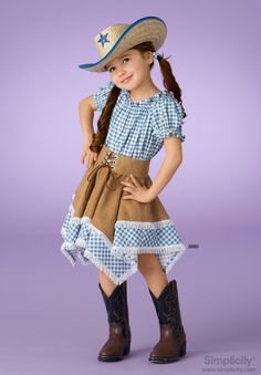 Witch, Cowgirl Costume Sewing Pattern 3680 Simplicity