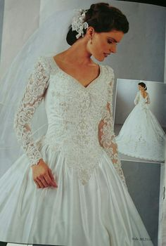 8a349bdfac1 Mori lee beaded 1998 collection wedding gown with long train
