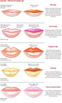Follow this guide to learn how to apply lip liner for different lip shapes/sizes!