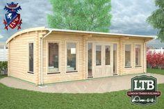 London Timber Buildings Log Cabin Wembley Range 8m x 4m WEM052 001