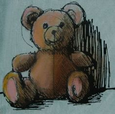 One Painting a Day: Teddy Bear II