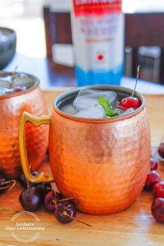 Here's a fun twist on a classic vodka mule recipe - American Mules! Made with Smirnoff Red White and Berry, these summer vodka cocktails are sure to hit the spot. If you love other Smirnoff drinks, you'll enjoy this one too. Beer Cocktail Recipes, Vodka Recipes, Vodka Cocktails, Summer Cocktails, Margarita Recipes, Alcohol Recipes, Top Recipes, Drink Recipes, Recipies