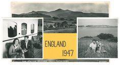 I sommeren 1947 foretag Ruth og Aage en rejse til England. Ruth har skrevet om turen – på vers. Aage der var en dygtig amatørfotograf har illustreret turen med billeder og tegninger.