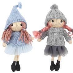 Astrid og Frida - Opskriftspakke (Strik)  Betalte Opskrifter Go Handmade