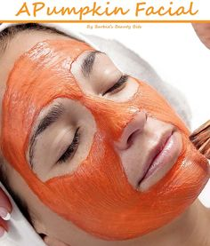 A great D.I.Y. face renewal, with A PUMPKIN MASK, that you can make at home, by Barbie's Beauty Bits!
