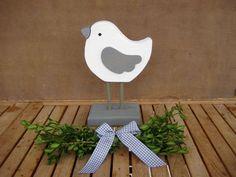 Deko-Objekte - ♥ Landhaus Shabby vintage Vogel auf Sockel ♥ - ein Designerstück von Sternenglanz-Clemens bei DaWanda