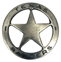 Old West Badge - Texas Ranger     $12.95
