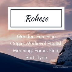 Rohese - girl's name