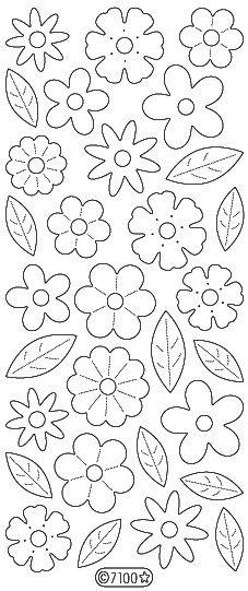 Velvet Small Flowers 7100
