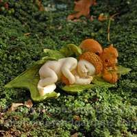 Miniature Fairy Baby with Squirrel would be an adorable addition to your fairy garden. Miniature Fairy Figurines, Miniature Fairy Gardens, Baby Fairy, Love Fairy, Clay Fairies, Fairies Garden, Polymer Clay Fairy, Woodland Fairy, Fairy Art