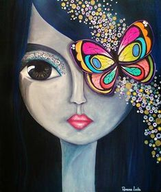icu ~ DIY Diamond Painting Butterfly Girl Mosaic Cross Stitch Full Square Drill Diamond Painting kit Sticker Home Decoration Gifts
