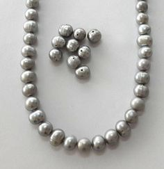 7-8mm grey pearl beads semi baroque pearl silver pearl Loose Pearls, Silver Pearls, Baroque Pearls, Pearl Beads, Pearl Necklace, Pearl Grey, Fresh Water, Trending Outfits, Unique Jewelry