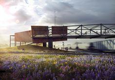 Train Pavilion Perspective | Visualizing Architecture