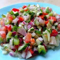 The Vegetarian Atkins Diary : Salad Shirazi. Middle eastern low carb and low calorie salad