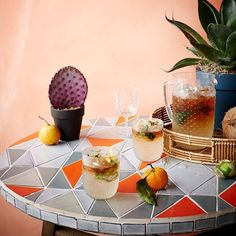 "3,247 Likes, 49 Comments - west elm (@westelm) on Instagram: "" Celebrating the weekend with cocktails on our Mosaic Tiled Bistro Table. #westelm #outdoor…"""