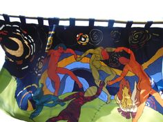 Matisse meets Van Gogh. Curtain&ko CurtainArt.230 * 135 cm. Commissioned Work.More at www.gordijnkunst.nl