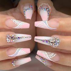 hansen chrome nail makeup brush nail designs airbrush makeup ten nail & makeup studio klang makeup tutorial nail art nailart and makeup salon design nail art designs ten nail & makeup studio Bling Acrylic Nails, Glam Nails, Summer Acrylic Nails, Best Acrylic Nails, Dope Nails, Fancy Nails, Stiletto Nails, Coffin Nails, Pink Coffin