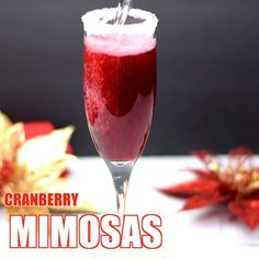 Easy Cranberry Mimosa is the perfect cranberry champagne cocktail. This mimosa w. - - Easy Cranberry Mimosa is the perfect cranberry champagne cocktail. This mimosa w. Champagne Margarita Recipe, Cranberry Champagne Cocktail, Champagne Margaritas, Cranberry Juice Cocktail, Sparkling Wine, Sweet Champagne, Mimosas, Thanksgiving Drinks, Christmas Drinks