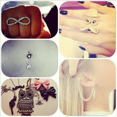 rings, belly button, jewelry, necklaces, earrings
