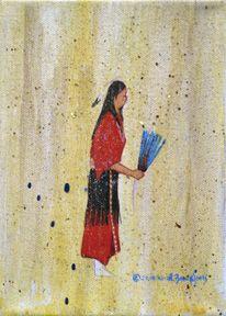Ruthe Blalock Jones (Shawnee, Peoria, Delaware): Red T Dress Girl