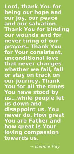 Prayer -Debbie Kay