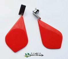 Brinco ou Alargador Resina Vermelha - Mahina Acessórios