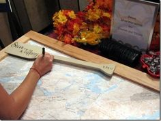 Writing messages onto a map is great for a travel themed wedding or for a couple who's travelling after their big day!