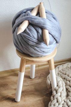 Plus Size Long Sleeve Plain Casual Sweater Womens Turtleneck Arm Knitting Yarn, Giant Knitting, Knitting Blogs, Chunky Knit Scarves, Chunky Yarn, Mustard Yellow Decor, Chunky Blanket, Diy Scarf, Wool Art
