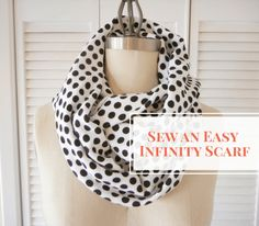 Sew an easy infinity scarf. How dreamy would these be with some of Heather Ross' Tiger Lily lawn fabric?!