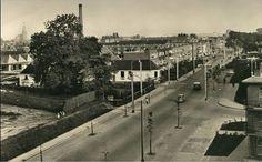 Groningen<br />De stad Groningen: De Friesestraatweg in 1954