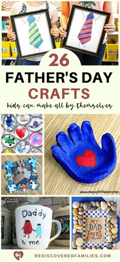 Jun 2019 - Need some simple Father's Day crafts for your kids to make? Here's a great list of fun DIY gifts for the dads in your lives. Click over to check them out. Fathers Day Art, Easy Fathers Day Craft, Diy Gifts For Dad, Homemade Gifts, Daddy Gifts, Cool Diy, Fun Diy, Thumbprint Crafts, Dads