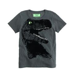 Boys' glow-in-the-dark T-rex tee : graphic tees | J.Crew