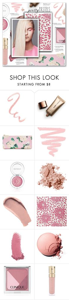"""Pretty Pastel Makeup"" by kellylynne68 ❤ liked on Polyvore featuring beauty, Nude by Nature, ban.do, Clinique, Bobbi Brown Cosmetics, Burberry, York Wallcoverings, Gucci, Smith & Cult and Eve Lom"