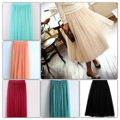 Tulle Skirt for Women in Six Colors from Adornmegirl on Storenvy -- every girl needs some tulle!