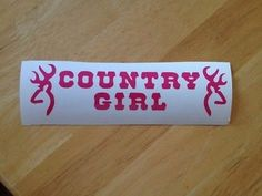 """""""Browning Country Girl"""" Car Truck Window Sticker Auto Decal New Pink Vinyl   eBay"""