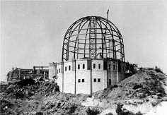 LOS ANGELES / GRIFFITH PARK: The Griffith Observatory under construction in 1933.