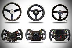 McLaren: The evolution of a racing car's steering wheel.