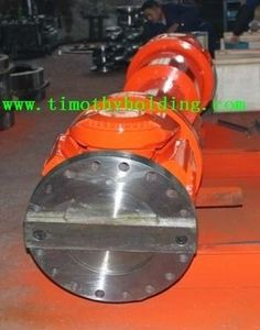 Timothy Holding Co.,Ltd. : Heavy duty universal joint shaft for Carbon steel pipe straightening machine