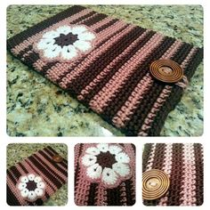 Crochet tablet cover. Image only. Design from B.hooked Crochet