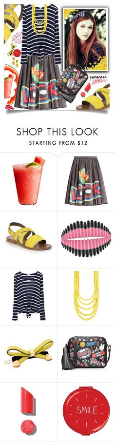 """""""Summer Brights"""" by wuteringheights ❤ liked on Polyvore featuring Disney, Moschino, Marni, MAC Cosmetics, Splendid, Madison Parker, L. Erickson, Anya Hindmarch, Chanel and Wild & Wolf"""