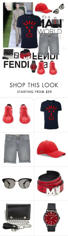 """""""A Summer Man"""" by kmaryk ❤ liked on Polyvore featuring Fendi, MANGO, Lacoste, Gucci, MCM, M&F Western, Ted Baker, Prada, men's fashion and menswear"""