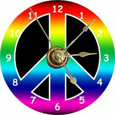 Cool Peace Signs | Brand New Cool Rainbow Peace Sign CD Clock | eBay