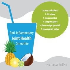 This anti-inflamatory joint health smoothie with Arthaffect will make you feel great! https://reliv.com/p/arthaffect