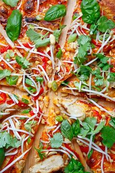 Thai Chicken Pizza. Ultimate California Pzza in SC makes a pizza like this~~sooo yummy!!