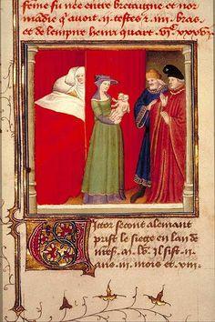 Naissance d'un enfant monstrueux  Maître de Boucicaut, Trésor des histoires, Paris, 1415 ? Paris, Arsenal, manuscrit 5077, fol. 341